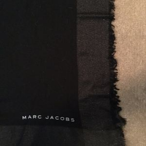 Marc Jacobs fringed black lightweight wrap/scarf